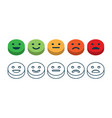 rating satisfaction feedback in form of emotions vector image vector image