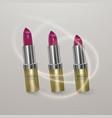 realistic lipstick of bright cherry color 3d vector image