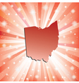 Red Ohio vector image vector image