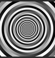ripple pattern with concentric circles grayscale vector image