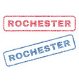 rochester textile stamps vector image vector image