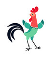 rooster looking back vector image vector image