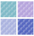 Set of seamless fine circle patterns circle flaky vector image