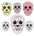 set sugar skulls design elements for poster vector image vector image