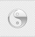 silver yin yang symbol of harmony and balanc vector image