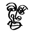 simple hand drawn abstract line continuous face vector image vector image