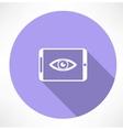 smartphone with Eye icon vector image