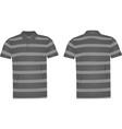 striped polo t shirt vector image vector image
