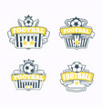 successful football emblem club vector image