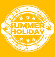 summer holiday rubber stamp vector image vector image