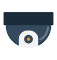 surveillance camera flat icon cctv and security vector image