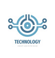technology logo electronic computer chip sign vector image vector image