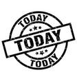 today round grunge black stamp vector image vector image