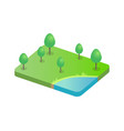 tree on green field and pond vector image vector image
