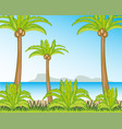 tropical coast with palm and beach vector image vector image