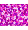 Valentines Day Seamless pattern with pink hearts vector image