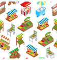 vendor food street signs 3d seamless pattern vector image vector image