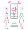 virus tracking location application vector image vector image