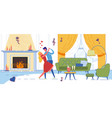 wife and husband or young couple dating at home vector image