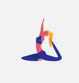 woman doing yoga exercises cartoon character vector image