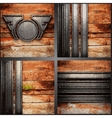 wood and metal background set vector image