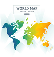 World Map Abstract Full Color vector image