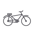 bicycle line icon sign on vector image