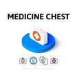 Medicine chest icon in different style vector image