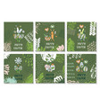 set of cards for congratulations on easter vector image