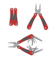 stainless steel multifunctional pocket multi tool vector image