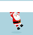 Santa Claus hanging on the empty blank vector image