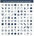100 game icons vector image vector image