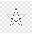 5 point classic star vector image vector image