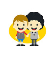Adorable gay cartoon character vector image
