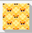 Animal seamless pattern collection with fox 4 vector image vector image