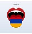 Armenia language Abstract human tongue vector image vector image
