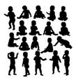 ba silhouette vector image
