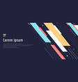 banner web design template dynamic geometric vector image vector image