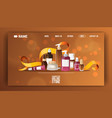 beauty cosmetic store landing page flat vector image