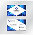 blue geometric business card 002 vector image vector image