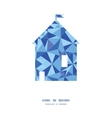 blue triangle texture house silhouette pattern vector image vector image