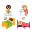 boy and girl lifestyle set vector image
