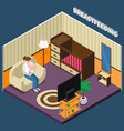 breastfeeding isometric composition vector image vector image