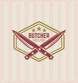 butcher house vintage label or badge vector image