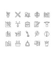 calligrapher line icons signs set vector image vector image