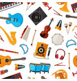 Cartoon musical instruments pattern or