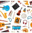 cartoon musical instruments pattern vector image