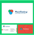 circles logo design with tagline front and back vector image