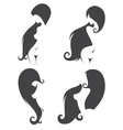 collection of naked girls silhouettes vector image vector image