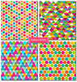 Colorful seamless pattern vector image vector image